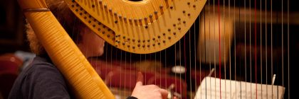 harpist and music